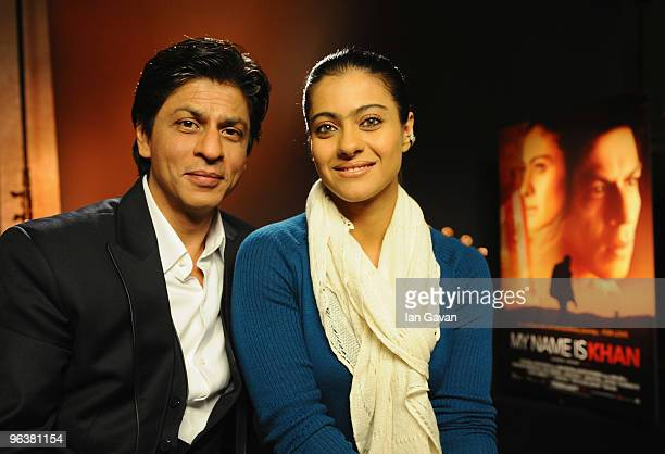 Shah Rukh Khan and Kajol attends the 'My Name Is Khan' press conference at the Courhouse Hotel on February 3 2010 in London England