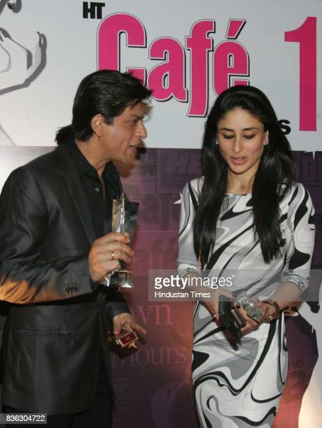 Shahrukh Khan and Kareena Kapoor at HT Cafe Awards