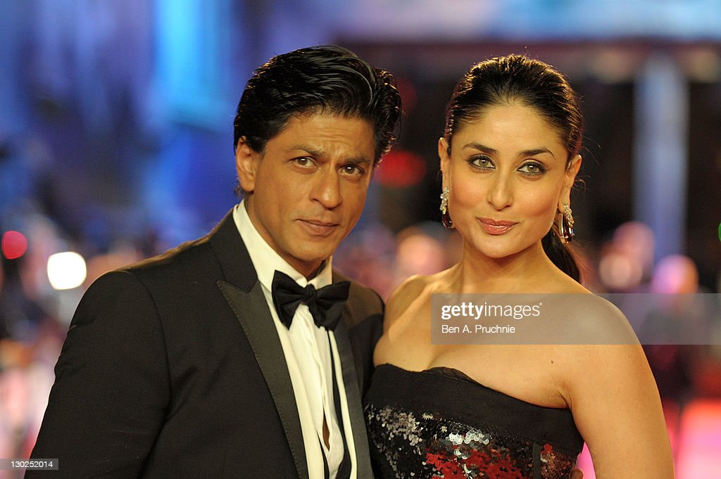 <a gi-track='captionPersonalityLinkClicked' href=/galleries/search?phrase=Shah+Rukh+Khan&family=editorial&specificpeople=664337 ng-click='$event.stopPropagation()'>Shah Rukh Khan</a> and <a gi-track='captionPersonalityLinkClicked' href=/galleries/search?phrase=Kareena+Kapoor&family=editorial&specificpeople=855270 ng-click='$event.stopPropagation()'>Kareena Kapoor</a> attends the UK premiere of RA One at 02 Arena on October 25, 2011 in London, England.