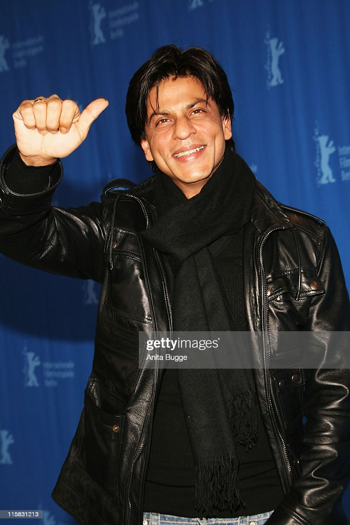 <a gi-track='captionPersonalityLinkClicked' href=/galleries/search?phrase=Shah+Rukh+Khan&family=editorial&specificpeople=664337 ng-click='$event.stopPropagation()'>Shah Rukh Khan</a> attends the Om Shanti Om photocall during day two of the 58th Berlinale International Film Festival held at the Grand Hyatt Hotel on February 8, 2008 in Berlin, Germany.