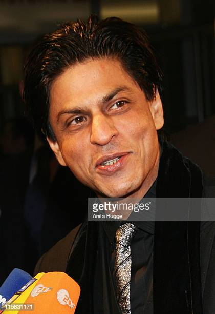 Shah Rukh Khan attends the Om Shanti Om premiere during day two of the 58th Berlinale International Film Festival held at the Berlinale Palast on...