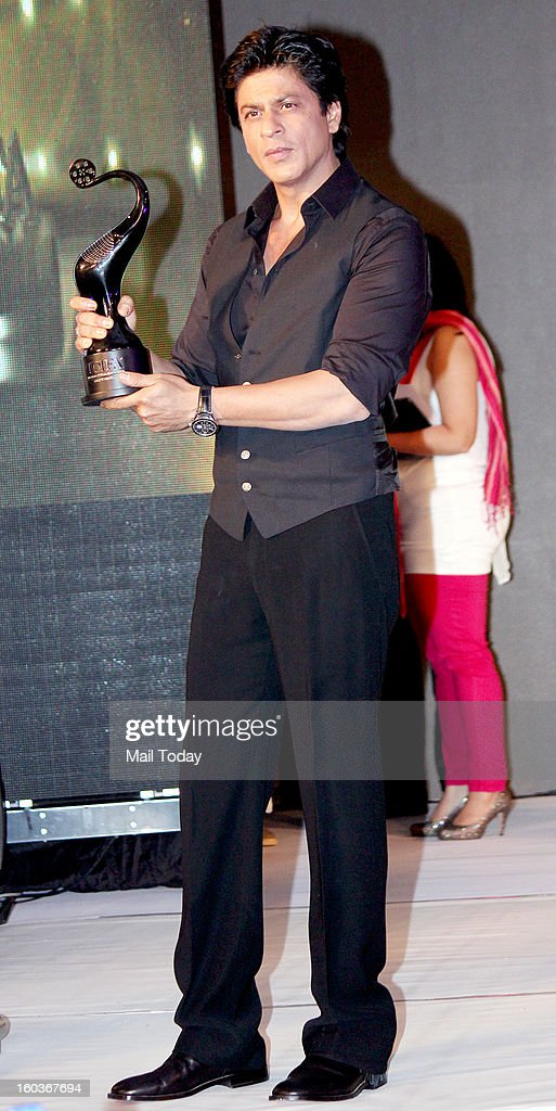 Shah Rukh Khan during award function held in Mumbai on January 29, 2013.
