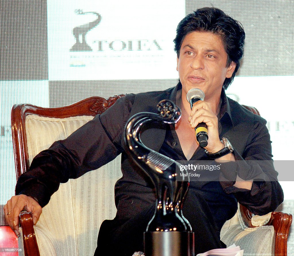 Shah Rukh Khan during award function held in Mumbai on January 29, 2013.