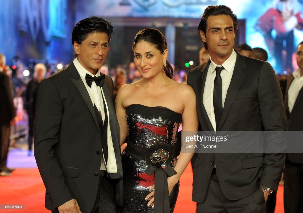 <a gi-track='captionPersonalityLinkClicked' href=/galleries/search?phrase=Shah+Rukh+Khan&family=editorial&specificpeople=664337 ng-click='$event.stopPropagation()'>Shah Rukh Khan</a>, <a gi-track='captionPersonalityLinkClicked' href=/galleries/search?phrase=Kareena+Kapoor&family=editorial&specificpeople=855270 ng-click='$event.stopPropagation()'>Kareena Kapoor</a> and <a gi-track='captionPersonalityLinkClicked' href=/galleries/search?phrase=Arjun+Rampal&family=editorial&specificpeople=684118 ng-click='$event.stopPropagation()'>Arjun Rampal</a> attends the UK premiere of RA One at 02 Arena on October 25, 2011 in London, England.