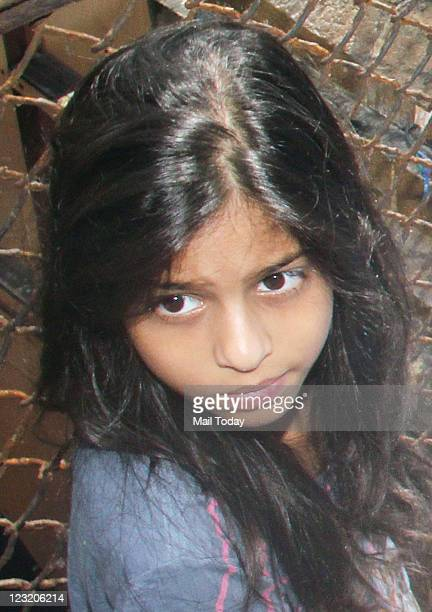 Shah Rukh Khan's daughter Suhana Eid celebrations at their residence Mannat at Bandra in Mumbai on August 31 2011