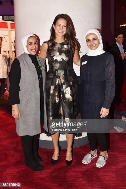 Shahad Alessa Kristin A Smith and Athba Al Manali attend the NYSCF Gala Science Fair at Jazz at Lincoln Center on October 16 2017 in New York City