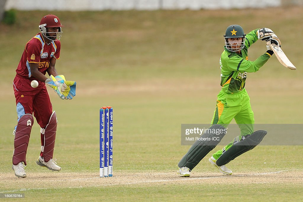 Shahid Ilyas of Pakistan bats during the ICC U19 Cricket World Cup 2012 Semi Final match between Pakistan and the West Indies at Endeavour Park on August 22, 2012 in Townsville, Australia.