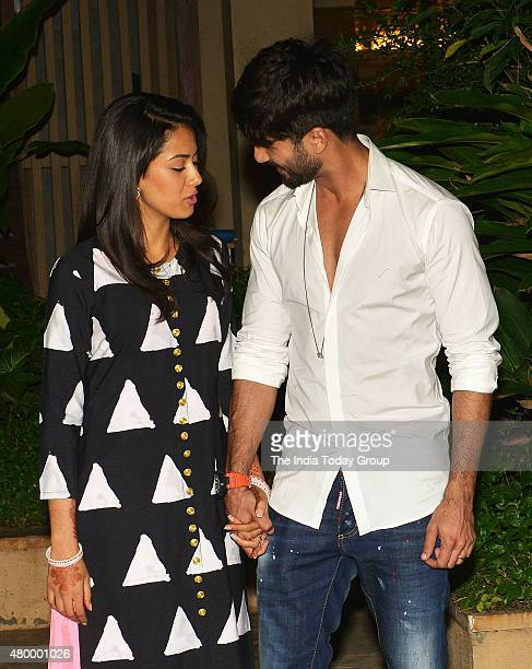 Shahid Kapoor along with his wife Mira Rajput in Mumbai