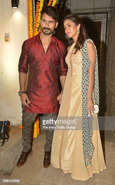 Shahid Kapoor and Mira Rajput at Masaba's mehendi ceremony in Mumbai