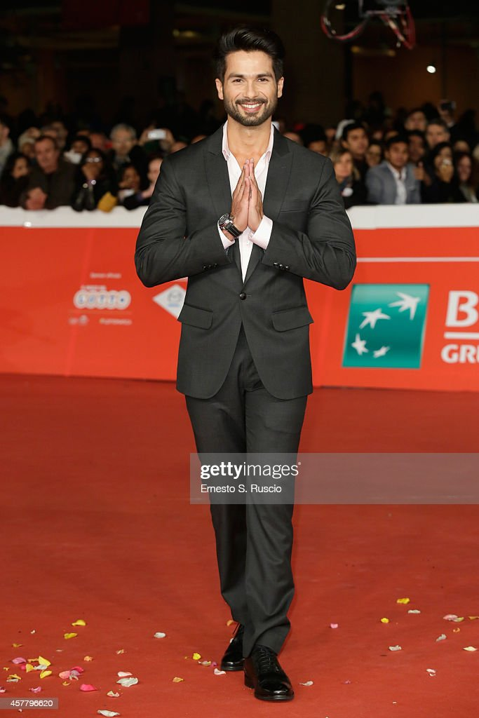 Shahid Kapoor attends the 'Haider' Red Carpet during the 9th Rome Film Festival on October 24, 2014 in Rome, Italy.