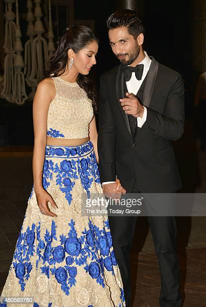 Shahid Kapur and Mira Rajput at their wedding reception in Mumbai