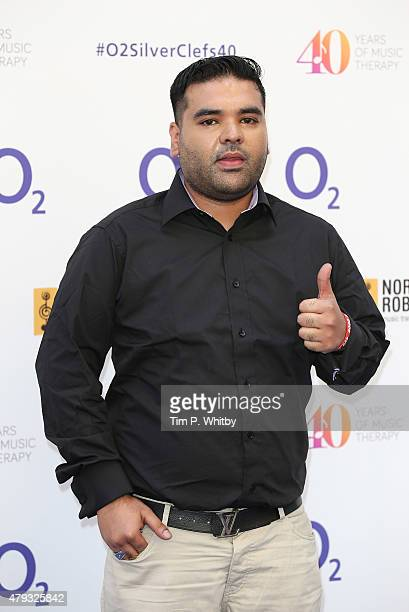 Shahid Khan aka Naughty Boy attends the Nordoff Robbins 02 Silver clef Awards at The Grosvenor House Hotel on July 3 2015 in London England