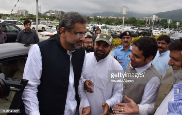 Shahid Khaqan Abbasi is seen after Pakistan's parliament elects Abbasi as the country's new prime minister following last weeks resignation of Nawaz...