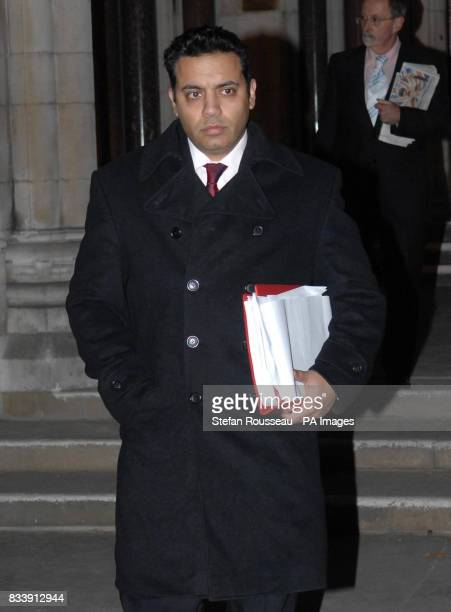 Shahid Malik MP for Dewsbury in West Yorkshire leaves the High Court in London today where he is suing for libel damages over what he described as a...