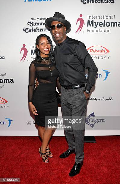 Shahidah Omar and actor JB Smoove attend the International Myeloma Foundation's 10th Annual Comedy Celebration at The Wilshire Ebell Theatre on...