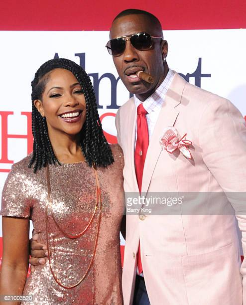 Shahidah Omar and comedian JB Smoove attend the premiere of Universal's 'Almost Christmas' at Regency Village Theatre on November 3 2016 in Westwood...
