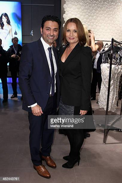 Shahin Moghadam and Jenny Juergens attend the Unique Flagship Store Opening at the new 'Koe Bogen' on November 28 2013 in Duesseldorf Germany