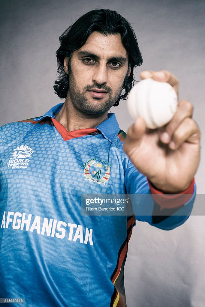 Shahpur Zadran of the Afghanistan poses during the official photocall for the ICC Twenty20 World on March 3, 2016 in Mohali, India.