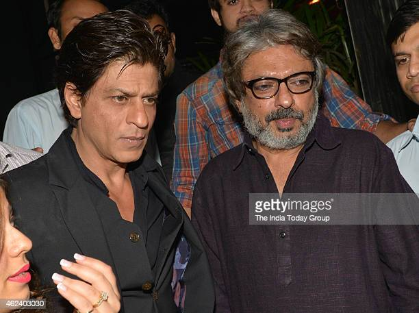 Shahrukh Khan and Sanjay Leela Bhansali at his Padma Shri honour celebrations in Mumbai