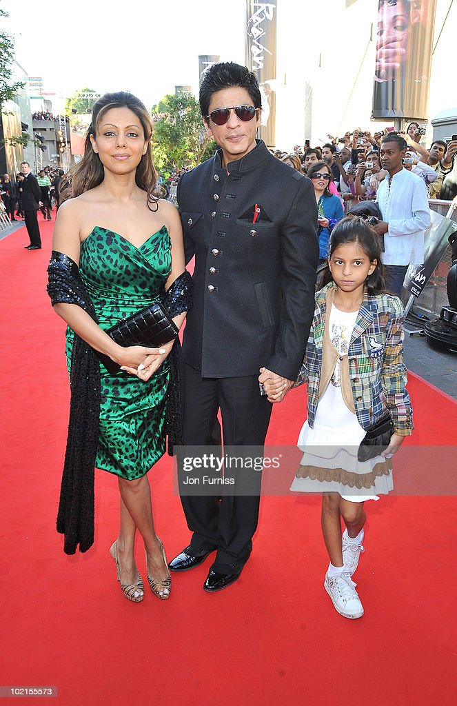 Shahrukh Khan arrives at the London premiere of 'Raavan' at BFI Southbank on June 16, 2010 in London, England.