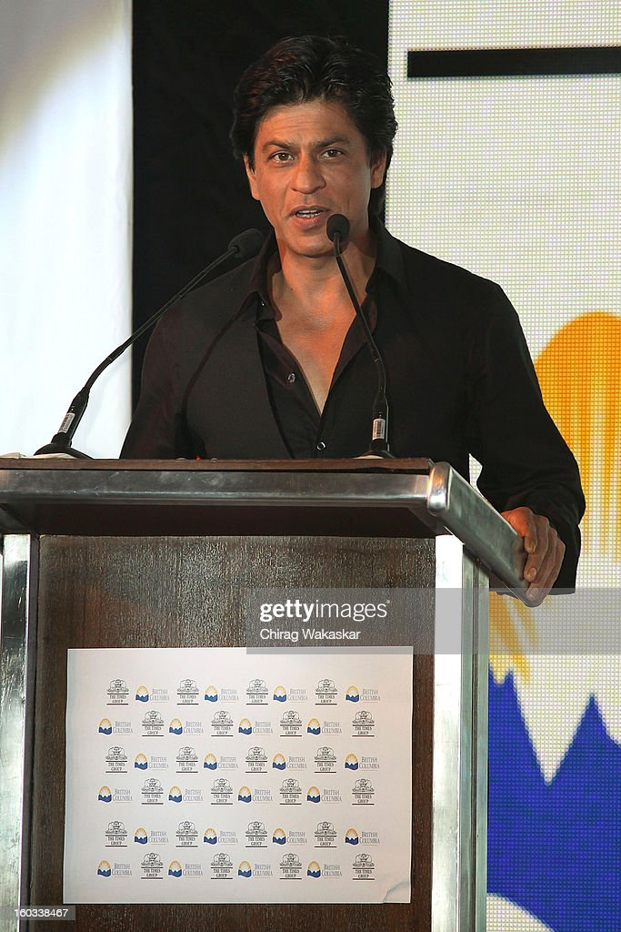 Shahrukh Khan attends press conference to announce the Times of India Film Awards, Vancouver at Taj Land's End on January 29, 2013 in Mumbai, India.