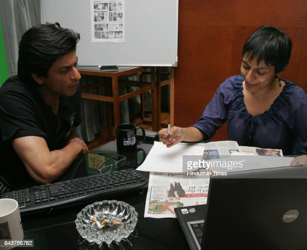 SRK Shahrukh Khan with HT Reporter was the guest editor for HT Cafe