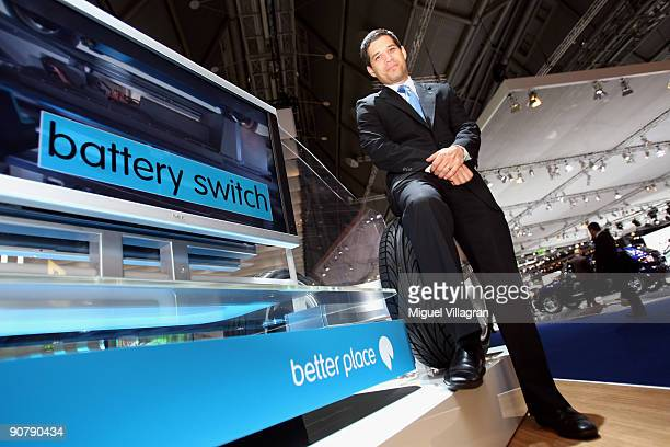 Shai Agassi founder and CEO of Project Better Place poses for a picture at the international motor show IAA on September 15 2009 in Frankfurt am Main...