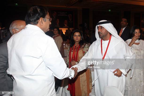 Shaikh Ahmed bin Saeed Al Maktoum President of Dubai Civil Aviation and Chairman and Chief Executive of Emirates airline meets Home minister P...