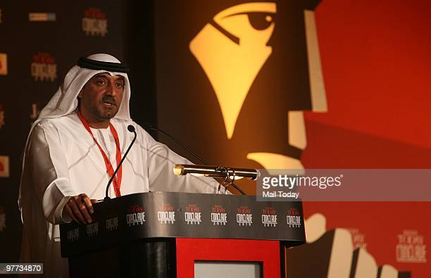 Shaikh Ahmed bin Saeed Al Maktoum President of Dubai Civil Aviation and Chairman and Chief Executive of Emirates airline at the India Today Conclave...