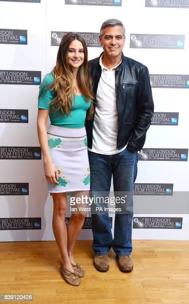Shailene Woodley and George Clooney at a photocall for their new film The Descendants at the Odeon West End cinema in London which is being shown at...