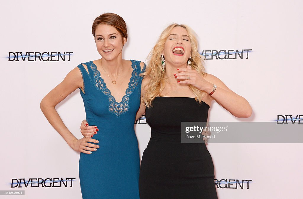 <a gi-track='captionPersonalityLinkClicked' href=/galleries/search?phrase=Shailene+Woodley&family=editorial&specificpeople=676833 ng-click='$event.stopPropagation()'>Shailene Woodley</a> (L) and <a gi-track='captionPersonalityLinkClicked' href=/galleries/search?phrase=Kate+Winslet&family=editorial&specificpeople=201923 ng-click='$event.stopPropagation()'>Kate Winslet</a> attend the European Premiere of 'Divergent' at Odeon Leicester Square on March 30, 2014 in London, England.