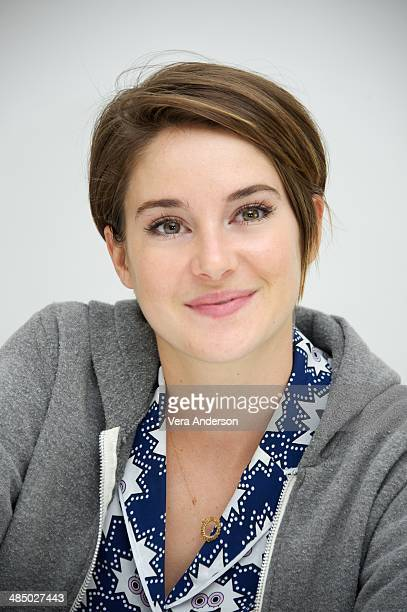 Shailene Woodley at 'The Fault In Our Stars' Press Conference at the Four Seasons Hotel on April 14 2014 in Beverly Hills California