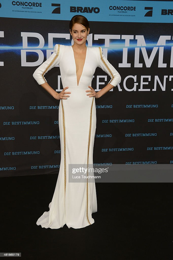 Shailene Woodley attends 'Die Bestimmung Divergent' German Premiere at Sony Centre on April 1 2014 in Berlin Germany