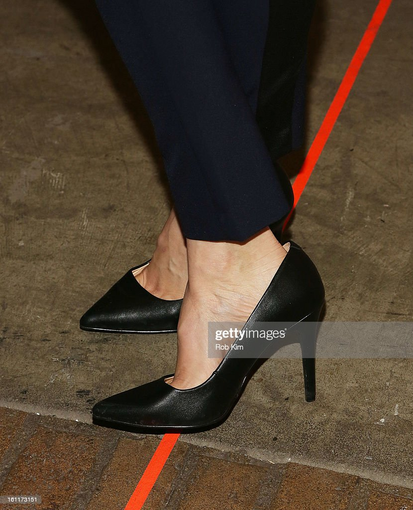 Shailene Woodley (shoe detail) attends Rebecca Taylor during Fall 2013 Mercedes-Benz Fashion Week at Highline Stages on February 9, 2013 in New York City.