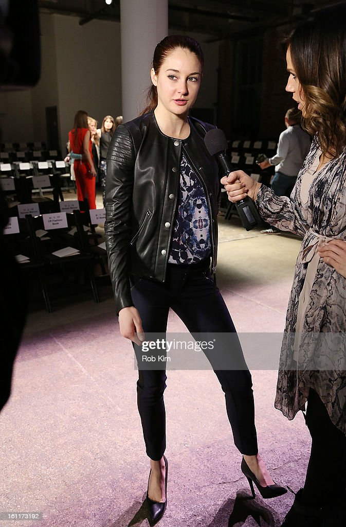 <a gi-track='captionPersonalityLinkClicked' href=/galleries/search?phrase=Shailene+Woodley&family=editorial&specificpeople=676833 ng-click='$event.stopPropagation()'>Shailene Woodley</a> attends Rebecca Taylor during Fall 2013 Mercedes-Benz Fashion Week at Highline Stages on February 9, 2013 in New York City.