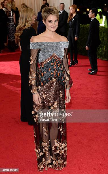 Shailene Woodley attends the 'Charles James Beyond Fashion' Costume Institute Gala held at the Metropolitan Museum of Art on May 5 2014 in New York...