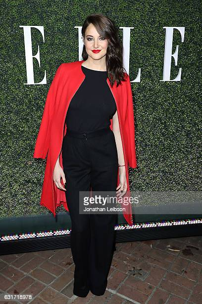Shailene Woodley attends the ELLE's Annual Women In Television Celebration 2017 Red Carpet at Chateau Marmont on January 14 2017 in Los Angeles...