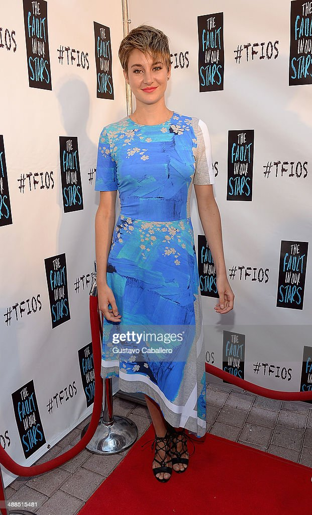 Shailene Woodley attends the The Fault In Our Stars Miami Fan Event at Dolphin Mall on May 6, 2014 in Miami, Florida.