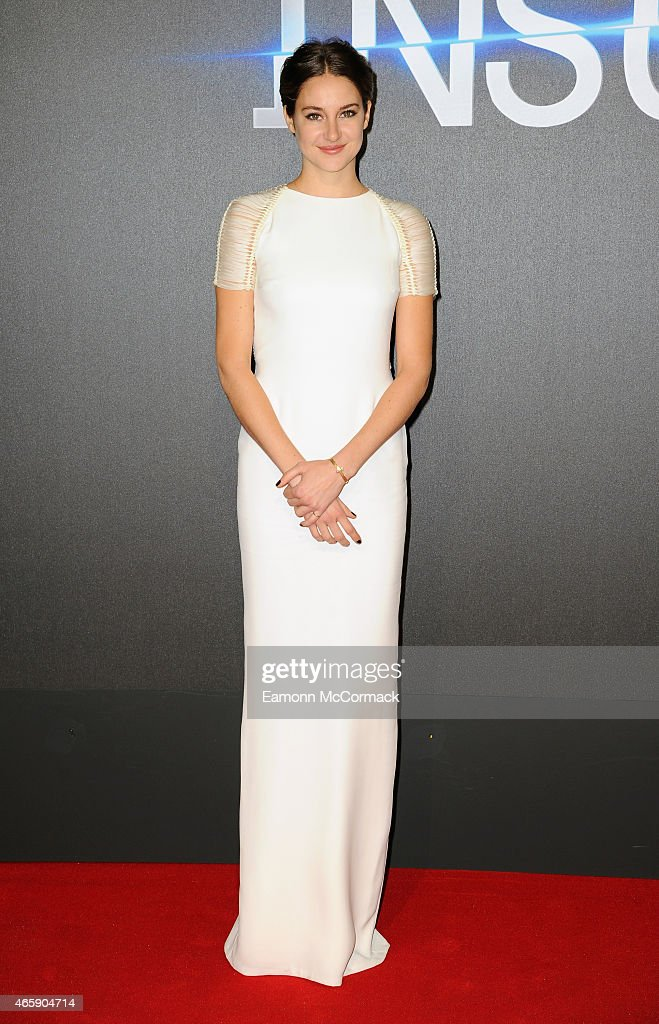 <a gi-track='captionPersonalityLinkClicked' href=/galleries/search?phrase=Shailene+Woodley&family=editorial&specificpeople=676833 ng-click='$event.stopPropagation()'>Shailene Woodley</a> attends the World Premiere of 'Insurgent' at Odeon Leicester Square on March 11, 2015 in London, England.
