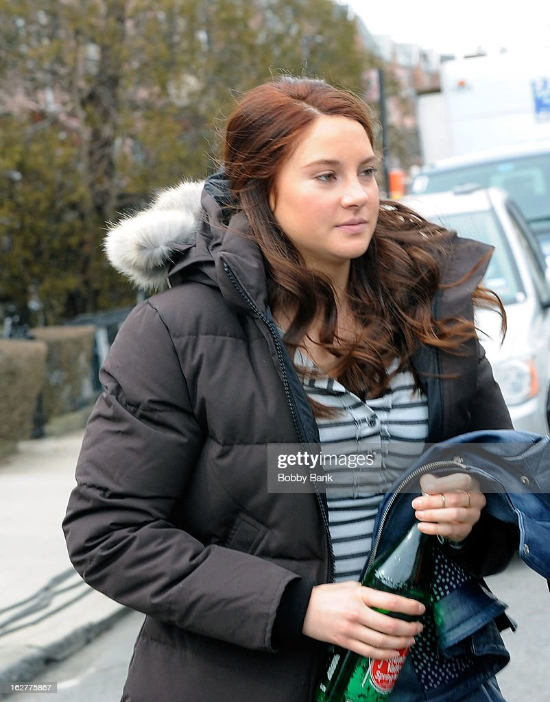 Shailene Woodley filming on location for 'The Amazing Spiderman 2' on February 26, 2013 in the Brooklyn borough of New York City.