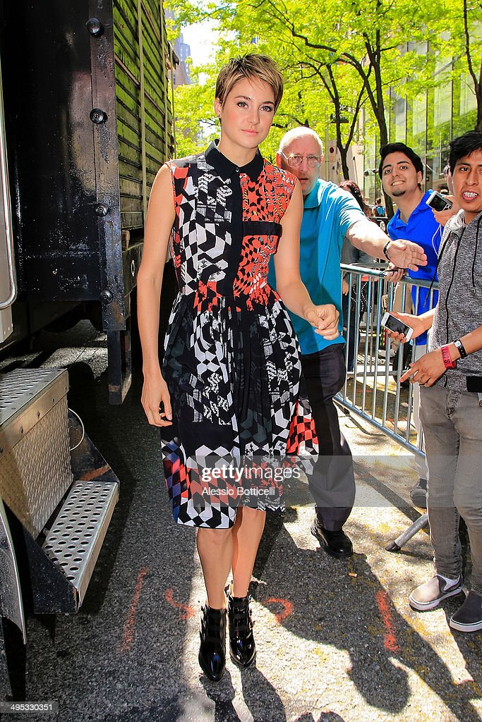 Shailene Woodley is seen leaving Today Show on June 2, 2014 in New York City.