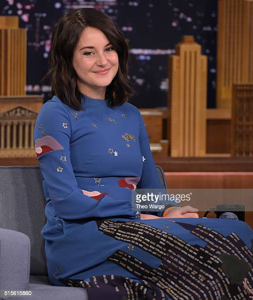 Shailene Woodley Visits 'The Tonight Show Starring Jimmy Fallon' at NBC Studios on March 14 2016 in New York City