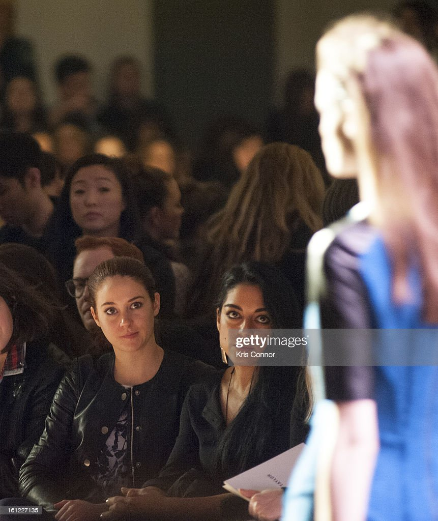 <a gi-track='captionPersonalityLinkClicked' href=/galleries/search?phrase=Shailene+Woodley&family=editorial&specificpeople=676833 ng-click='$event.stopPropagation()'>Shailene Woodley</a> watches the Rebecca Taylor Fall 2013 show during Mercedes-Benz Fashion Week at Highline Stages on February 9, 2013 in New York City.