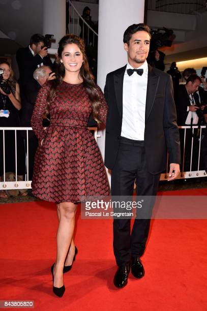 Shain Boumedine and Ophelie Bau walk the red carpet ahead of the 'Mektoub My Love Canto Uno' screening during the 74th Venice Film Festival at Sala...