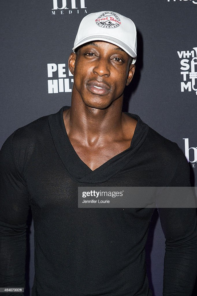 Shaka Smith arrives at 'One Night In Los Angeles' presented by Perez Hilton at The Troubadour on August 23, 2014 in Los Angeles, California.
