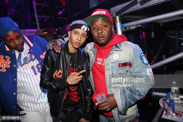 Shake and Lil Cease attend the Ruff Ryders Reunion Concert at Barclays Center on April 21 2017 in New York City