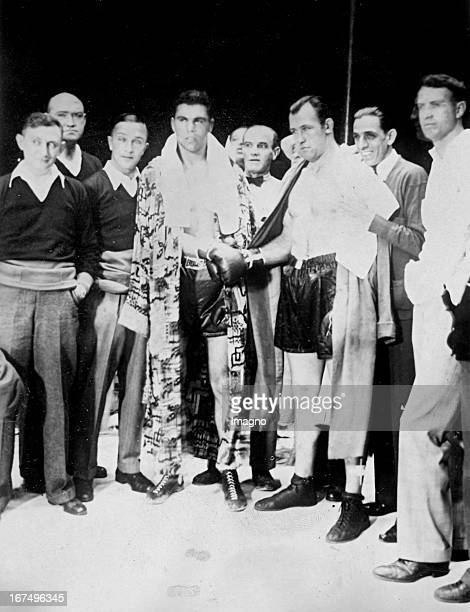 Shake Hands between the American boxer Jack Sharkey and the German boxer Max Schmeling before their fight for the world championship 12th June 1930...