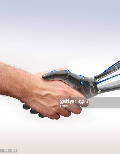 shake hands with new technologies
