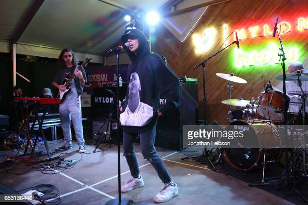 Shake performs at the NYLON And The Hulu Original The Handmaid's Tale Celebrate SXSTYLE At #TwitterHouse at Bar 96 on March 13 2017 in Austin Texas