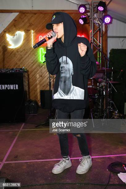 Shake performs onstage as NYLON and The Hulu Original The Handmaid's Tale celebrate SXSTYLE at #TwitterHouse at Bar 96 on March 13 2017 in Austin...